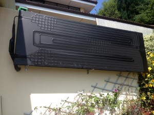 wall mounted thermodynamic solar panel